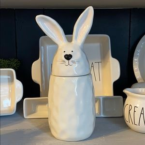 10 strawberry street Easter bunny canister